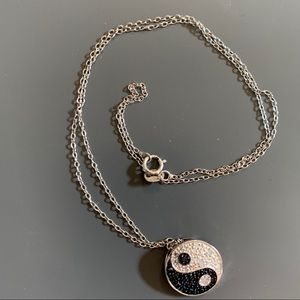 Jewelry - Vintage Yin-Yang Crystal Charm Necklace